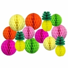 Decorative Pineapple Party Tissue Paper Honeycomb Balls (Color: Tropical 3) - Premier