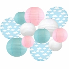 Decorative Round Chinese Paper Lanterns -Magical Collection (12pcs, Enchanted Clouds) - Premier