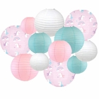 Decorative Round Chinese Paper Lanterns -Magical Collection (12pcs, Rainbow Roxy) - Premier