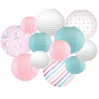 Decorative Round Chinese Paper Lanterns -Magical Collection (12pcs, Rainbow Wonders) - Premier