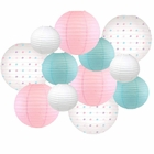 Decorative Round Chinese Paper Lanterns -Magical Collection (12pcs, Star Gazing) - Premier