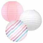 Decorative Round Chinese Paper Lanterns -Magical Collection (3pcs, Lovely Lightning) - Premier