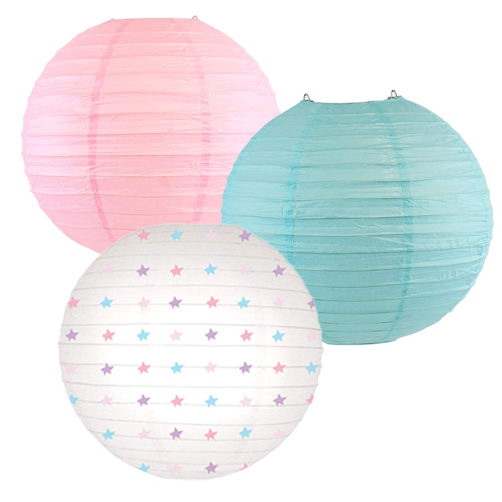 Decorative Round Chinese Paper Lanterns -Magical Collection (3pcs, Star Gazing) - Premier