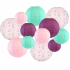 Decorative Round Chinese Paper Lanterns -Mermaid Collection (12pcs, Marvelous Mermaids) - Premier