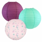 Decorative Round Chinese Paper Lanterns -Mermaid Collection (3pcs, Marvelous Mermaids) - Premier