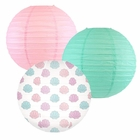 Decorative Round Chinese Paper Lanterns -Mermaid Collection (3pcs, Shell-A-Brate) - Premier