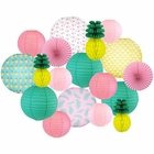 Decorative Round Chinese Paper Lanterns -Paradise Collection (18pcs, Perfect Paradise) - Premier