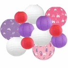 Decorative Round Chinese Paper Lanterns -Princess Collection (12pcs, Enchanted Evening) - Premier