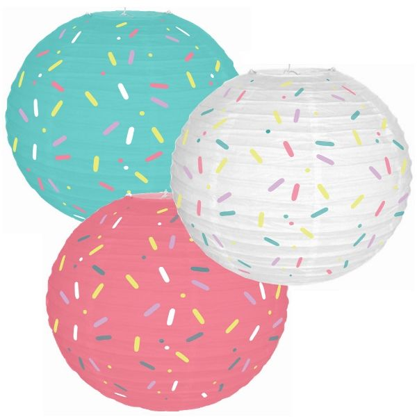 Donut Party Sprinkles 12inch Paper Lantern Set 3pcs
