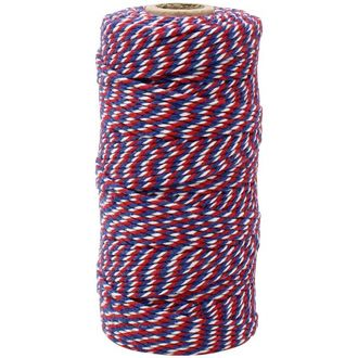 ECO Bakers Twine 110yd 12Ply Cherry Navy Twist