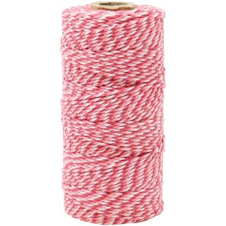 ECO Bakers Twine 110yd 12Ply Fuchsia Bubblegum Twist