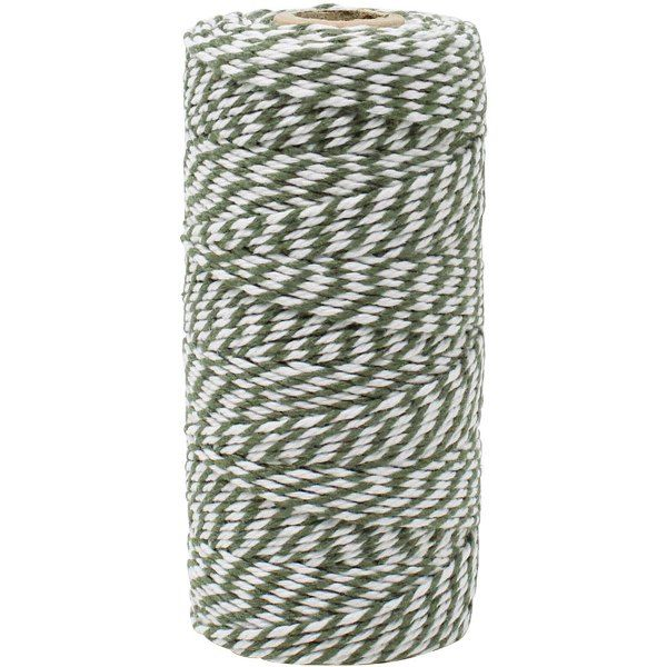 ECO Bakers Twine 110yd 12Ply Striped Olive
