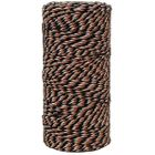 ECO BAKERS TWINE 110YD 12PLY PUMPKIN BLACK HALLOWEEN TWIST