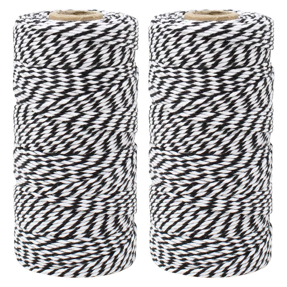 ECO Bakers Twine 110yd 12Ply Striped Black (2-Pack) - Premier