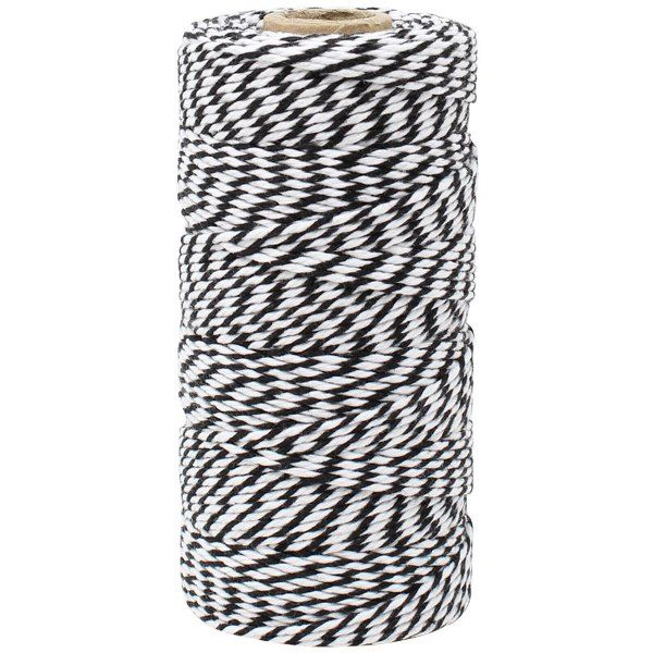 ECO Bakers Twine 110yd 12Ply Striped Black