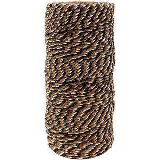 ECO Bakers Twine 110yd 12Ply Striped Brown Black