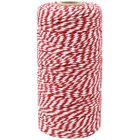 ECO Bakers Twine 110yd 12Ply Striped Cherry Red