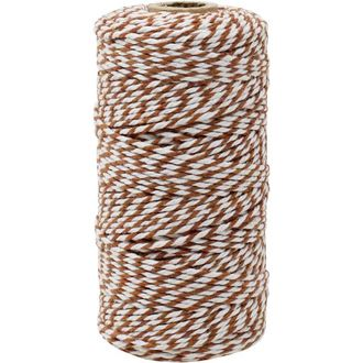 ECO Bakers Twine 110yd 12Ply Striped Cinnamon