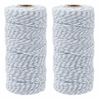 ECO Bakers Twine 110yd 12Ply Striped Cornflower (2-Pack) - Premier
