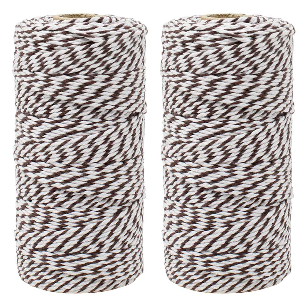 ECO Bakers Twine 110yd 12Ply Striped Espresso (2-Pack) - Premier