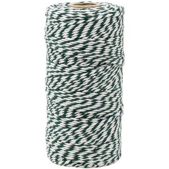 ECO Bakers Twine 110yd 12Ply Striped Forest Green