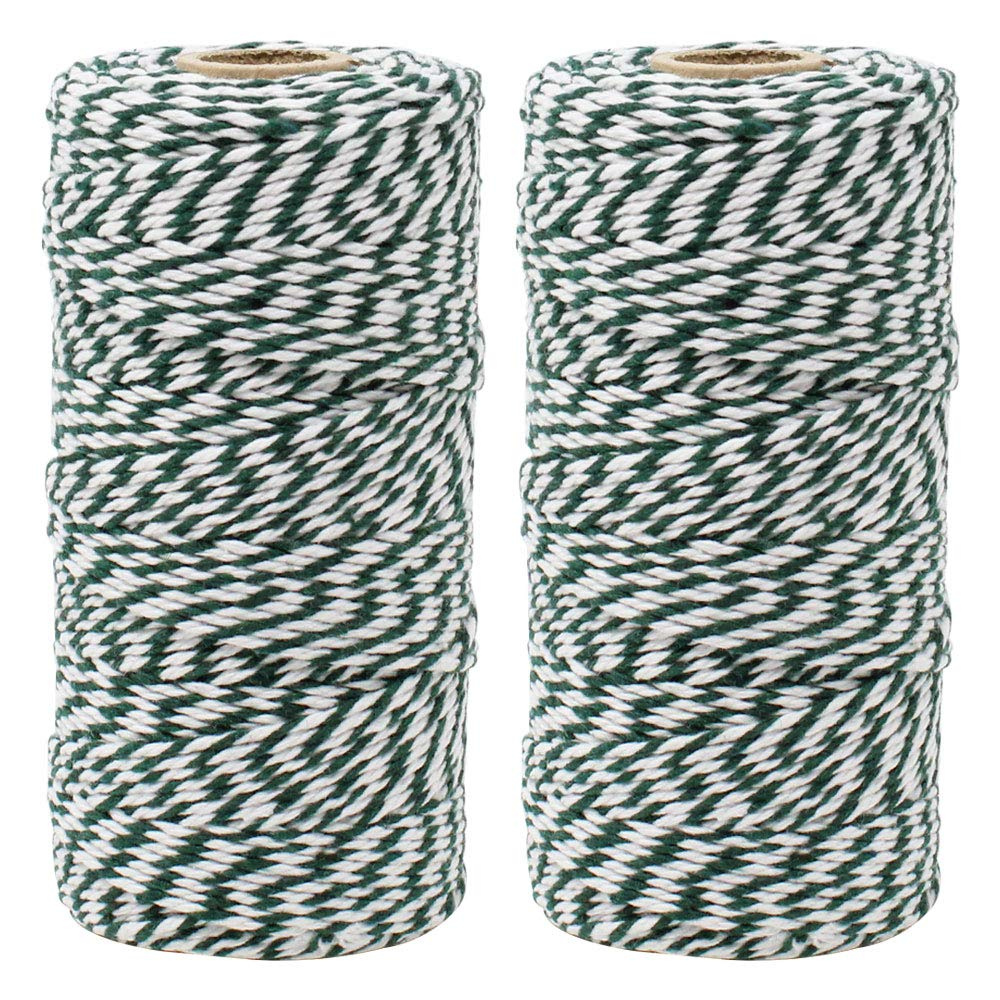 ECO Bakers Twine 110yd 12Ply Striped Forest Green (2-Pack) - Premier