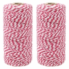 ECO Bakers Twine 110yd 12Ply Striped Fuchsia (2-Pack) - Premier