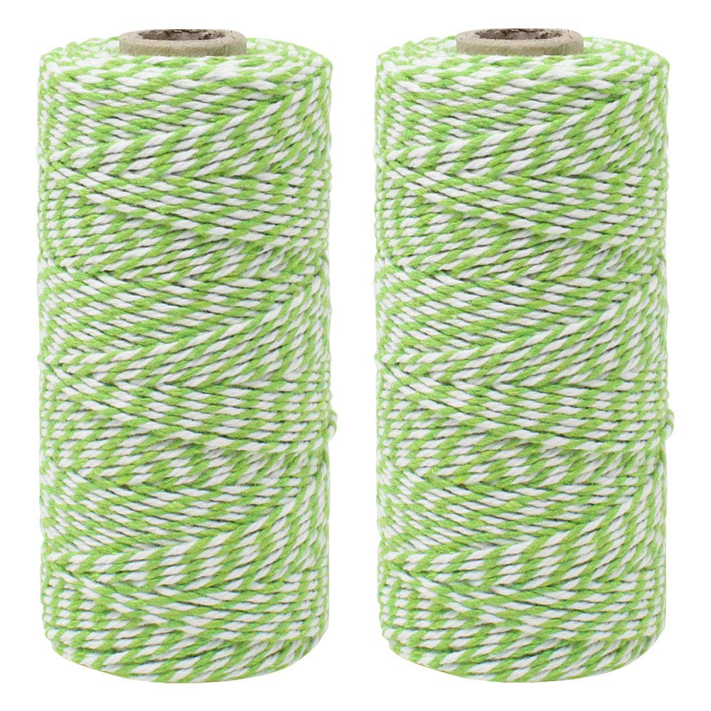 ECO Bakers Twine 110yd 12Ply Striped Green Apple (2-Pack) - Premier