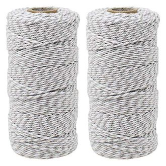 ECO Bakers Twine 110yd 12Ply Striped Grey (2-Pack) - Premier