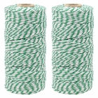 ECO Bakers Twine 110yd 12Ply Striped Kelly Green (2-Pack) - Premier