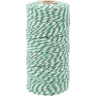 ECO Bakers Twine 110yd 12Ply Striped Kelly Green