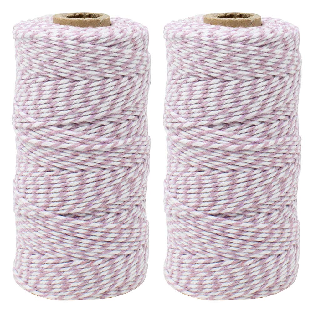 ECO Bakers Twine 110yd 12Ply Striped Lavender (2-Pack) - Premier