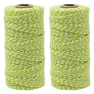 ECO Bakers Twine 110yd 12Ply Striped Lemon Apple Twist (2-Pack) - Premier