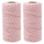 ECO Bakers Twine 110yd 12Ply Striped Light Pink (2-Pack) - Premier