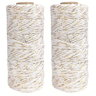 ECO Bakers Twine 110yd 12Ply Striped Metallic Gold (2-Pack) - Premier