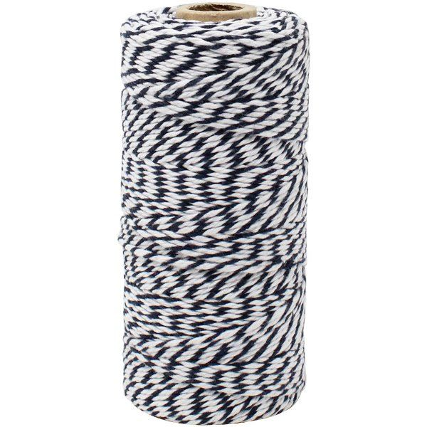 ECO Bakers Twine 110yd 12Ply Striped Midnight Navy