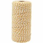 ECO Bakers Twine 110yd 12Ply Striped Mustard Yellow