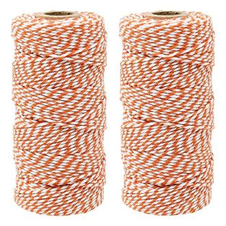 ECO Bakers Twine 110yd 12Ply Striped Pumpkin (2-Pack) - Premier