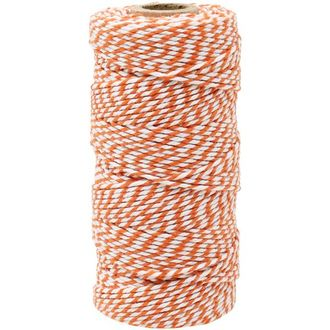 ECO Bakers Twine 110yd 12Ply Striped Pumpkin