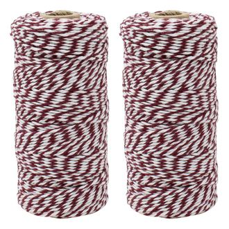 ECO Bakers Twine 110yd 12Ply Striped Raisin (2-Pack) - Premier