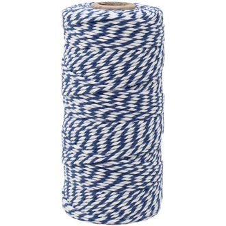 ECO Bakers Twine 110yd 12Ply Striped Royal Blue