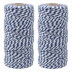 ECO Bakers Twine 110yd 12Ply Striped Royal Blue (2-Pack) - Premier