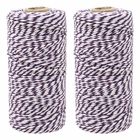 ECO Bakers Twine 110yd 12Ply Striped Royal Purple (2-Pack) - Premier