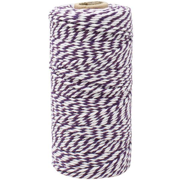 ECO Bakers Twine 110yd 12Ply Striped Royal Purple