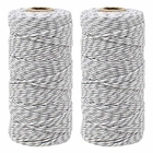 ECO Bakers Twine 110yd 12Ply Striped Slate Grey (2-Pack) - Premier
