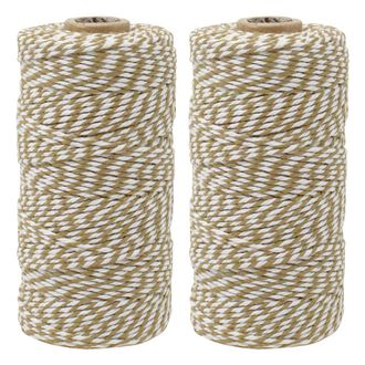 ECO Bakers Twine 110yd 12Ply Striped Taupe (2-Pack) - Premier