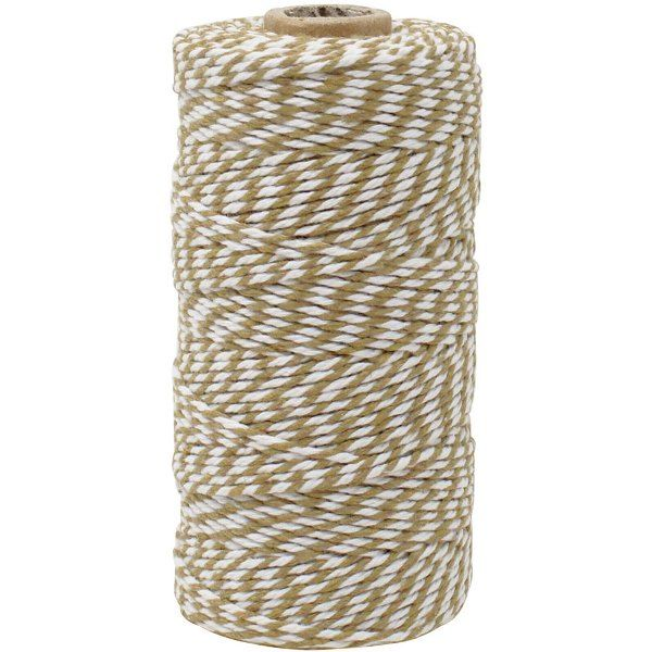 ECO Bakers Twine 110yd 12Ply Striped Taupe