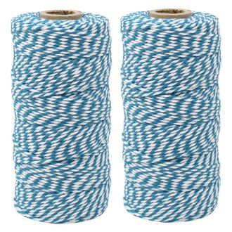 ECO Bakers Twine 110yd 12Ply Striped Teal (2-Pack) - Premier