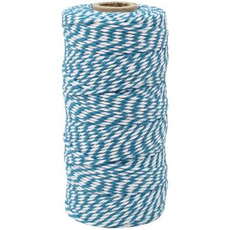 ECO Bakers Twine 110yd 12Ply Striped Teal