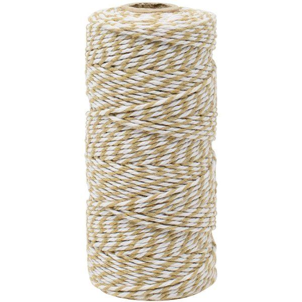 ECO Bakers Twine 110yd 12Ply Striped Wheat